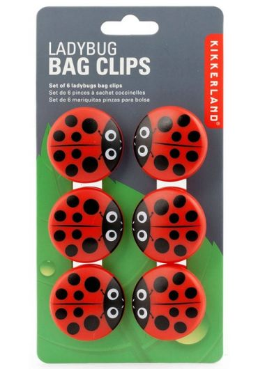 Set 6 clesti pentru pungi - Ladybug