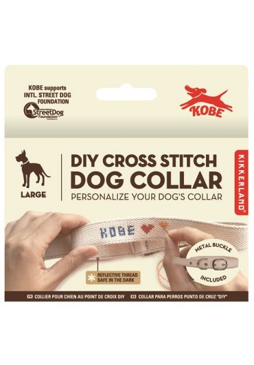 Zgarda - Cross Stitch Dog Collar - L
