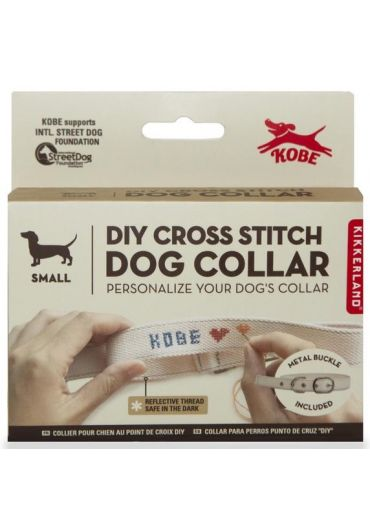 Zgarda - Cross Stitch Dog Collar - S