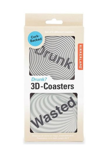 Set 6 suporturi pahare - 3D Drunk