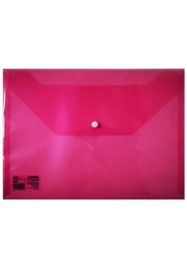 Mapa plastic cu buton A4 rosie