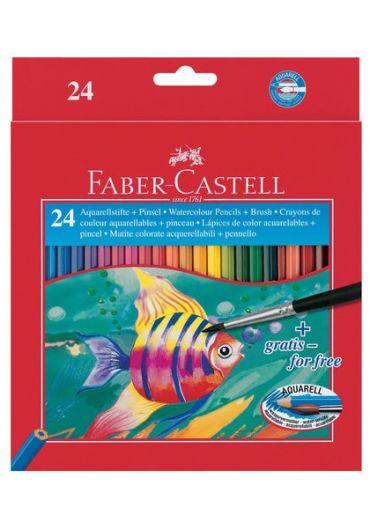 Creioane colorate Acuarela 24 culori + pensula