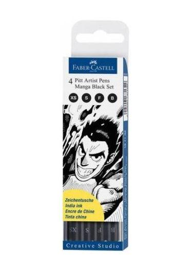 Pitt artist pen Manga 4/set negru