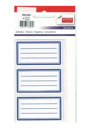 Etichete scolare 12/set 5001 Albastru