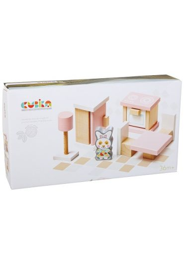 Jucarie Din Lemn, Cubika, Set Constructii - My Kitchen