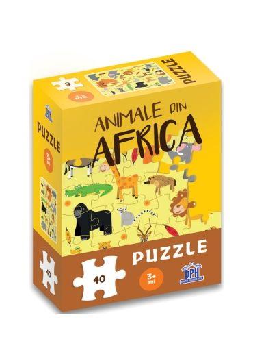 Animale din Africa - Puzzle
