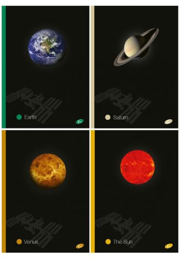 Caiet A4 60 file matematica Planets