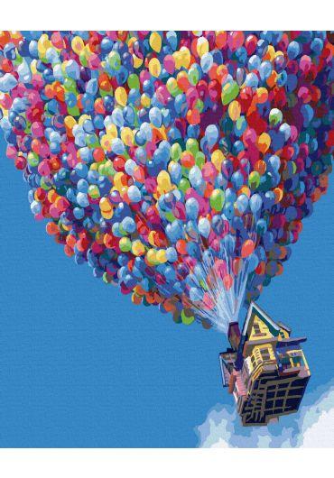 Set Picturi pe numere, Acuarello, 40X50 cm - Up Balloons