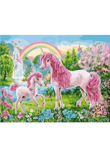 Set Picturi pe numere, Acuarello, 40X50 cm - Poneys