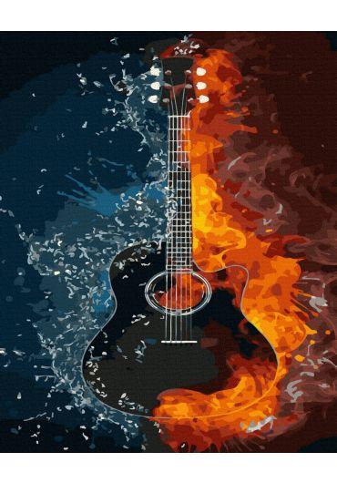Set Picturi pe numere, Acuarello, 50X65 cm - Guitar