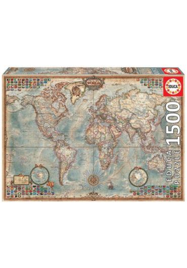 Puzzle 1500 piese Political Map of the World