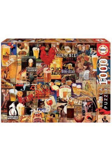 Puzzle 1000 piese Vintage Beer Collage
