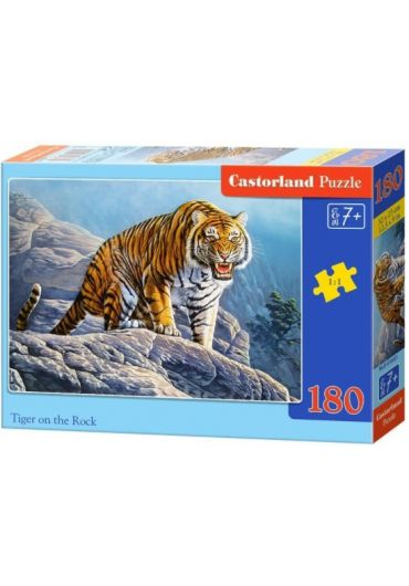 Puzzle 180 piese Tiger on the Rock