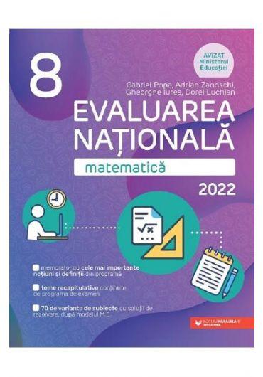 Evaluare Nationala 2022. Matematica, clasa a VIII-a