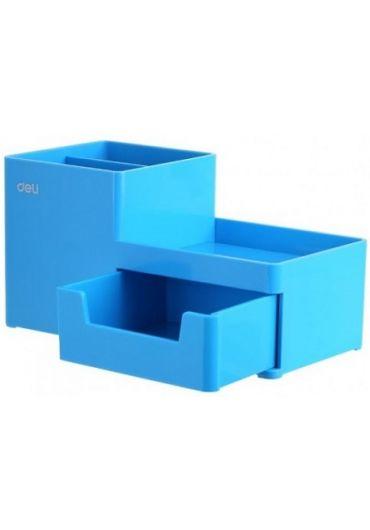 Suport birou 3 compartimente+sertar bleu