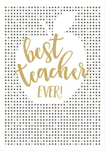 Felicitare - Best Teacher Ever - Apple