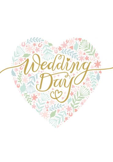 Felicitare - Wedding Day - Heart