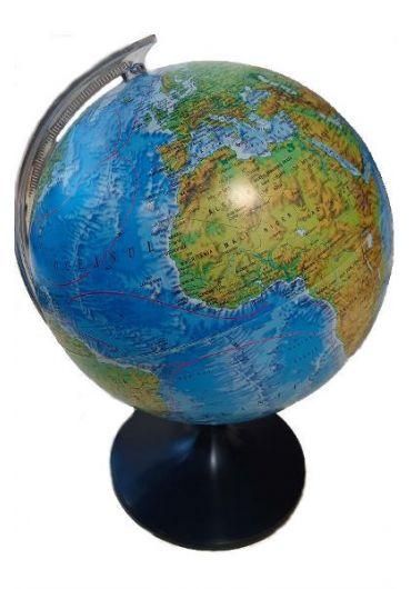Glob pamantesc. Harta fizica