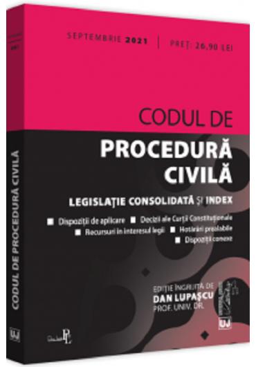 Codul de procedura civila Septembrie 2021
