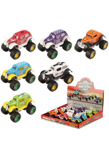 Jucarie - Crazy Racer Car Pull Back Action Toy