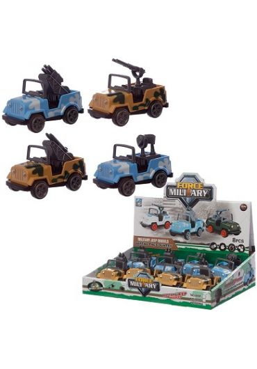 Jucarie - Military Jeep Pull Back/Push Forward Action Toy