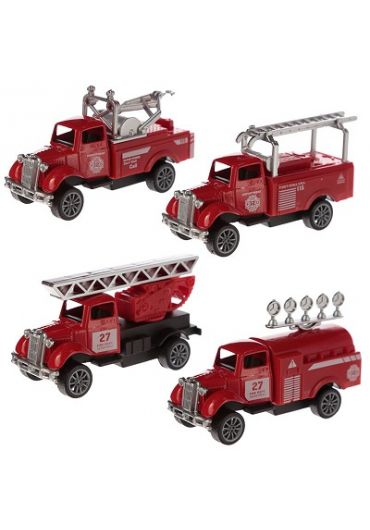 Jucarie - Mini Fire Truck Toy Pull Back Action Toy