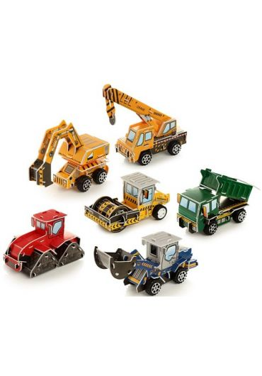 Jucarie puzzle - DIY Puzzle Construction Truck Pull Back Action Toy