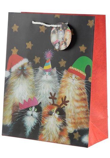 Punga cadou mare - Kim Haskins Cats Xmas