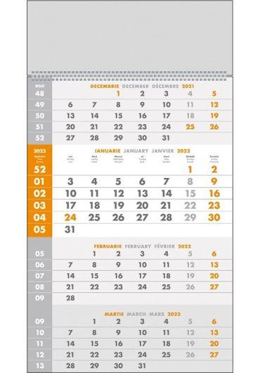 Calendar de perete triptic special 2022