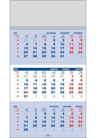 Calendar de perete triptic clasic 2022