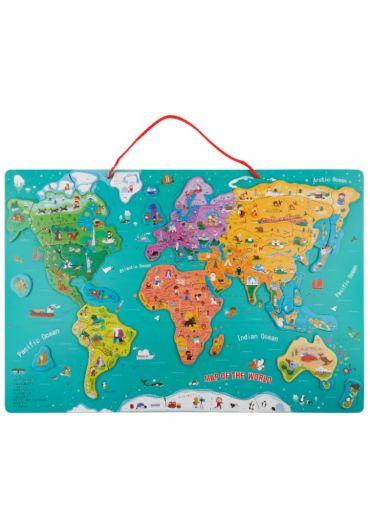 Puzzle magnetic - Harta lumii mare