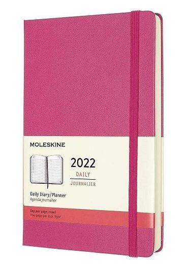Agenda - 12 Month Daily Large Planner 2022 - Pink Bouganvilla