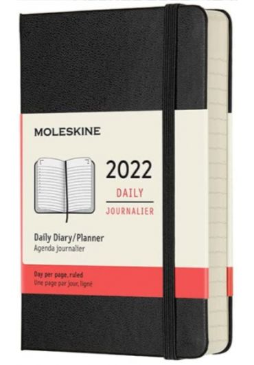 Agenda - 12 Month Daily Pocket Planner 2022 - Black