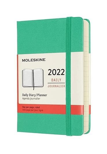 Agenda - 12 Month Daily Pocket Planner 2022 - Ice Green