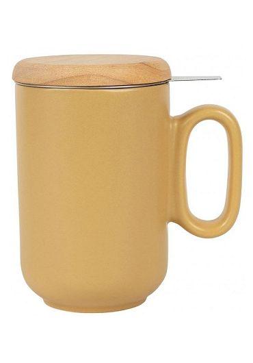 Cana ceramica cu infuzor si capac - Baltika Mustard Matt