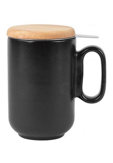 Cana ceramica cu infuzor si capac - Baltika Black Matt