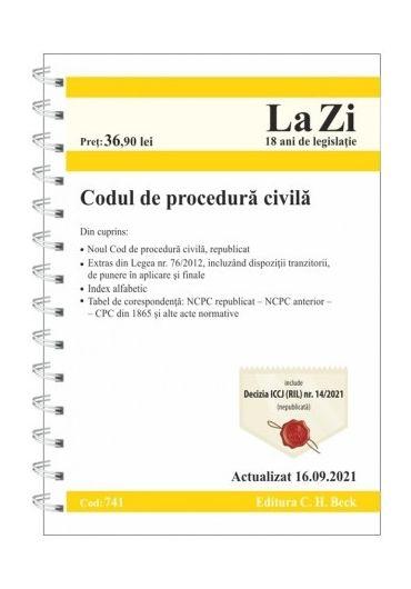 Codul de procedura civila. Actualizat 16.09.2021