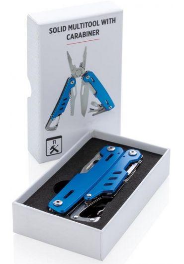 Unealta multifunctionala - Solid Multitool with carabiner Blue