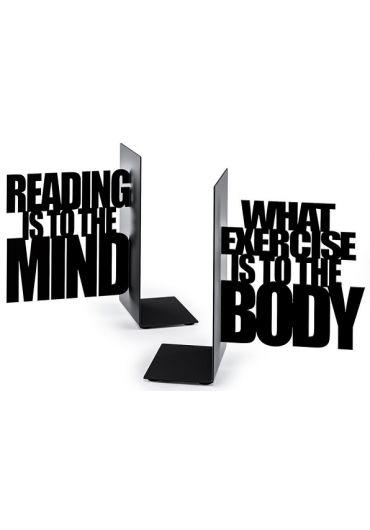 Set 2 suporturi laterale pentru carti - Exercise Your Mind