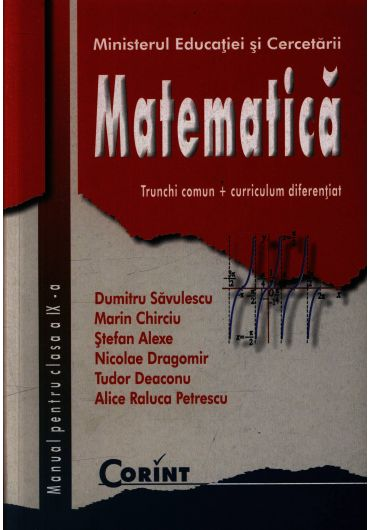 Manual matematica TC + CD clasa a IX-a