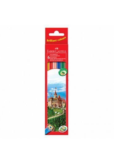 Creioane colorate 6 culori Eco