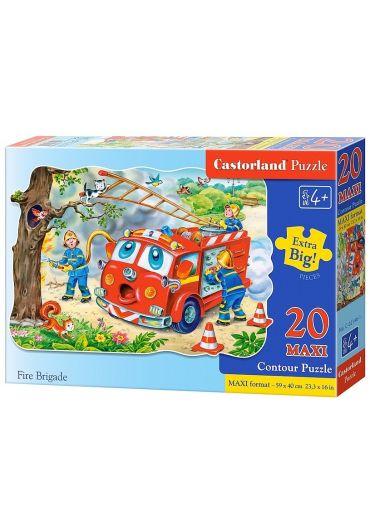 Puzzle 20 piese Maxi Pompieri