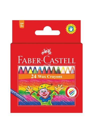 Creioane cerate 24 culori Faber Castell