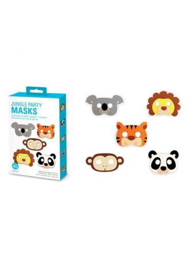 Jungle party masks set