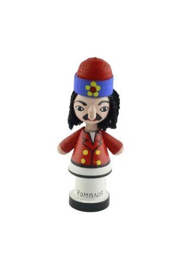Magnet mascota Vlad Tepes din lemn