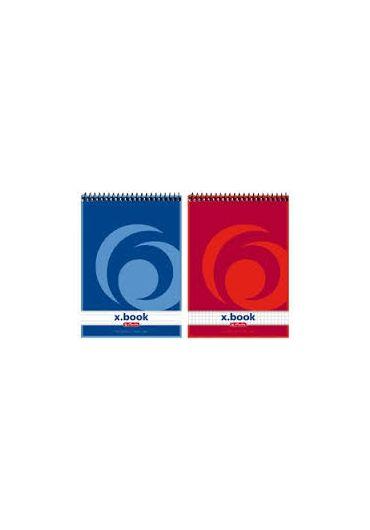 Bloc notes A7 50 file matematica cu spirala - X.Book