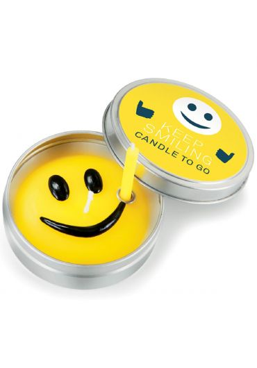 Keep smiling candle to go