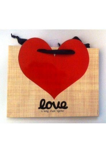 Punga cadou medie - Love is being stupid together