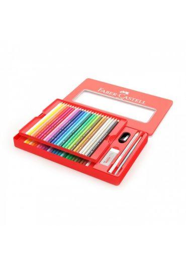Creioane colorate acuarela 48 culori + 4 accesorii cutie metal