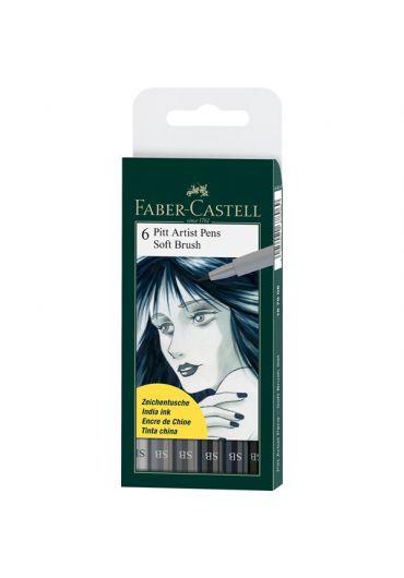 Pitt Artist pen soft brush 6/set